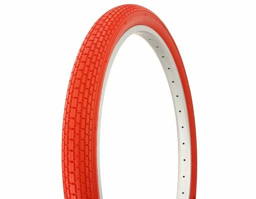 Red Cruiser Bike Tires