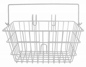 White Bicycle Basket