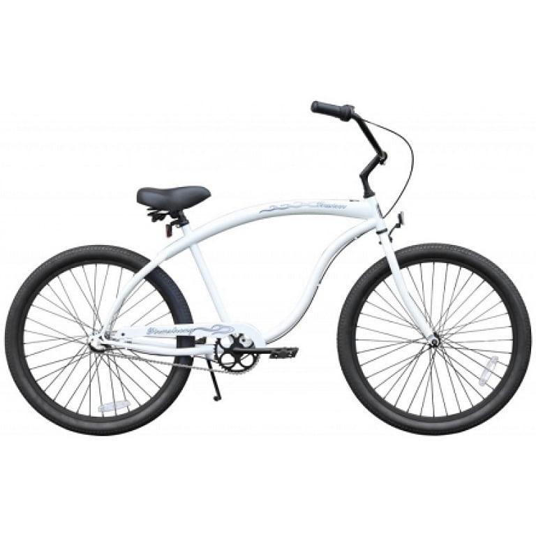 White 3 Speed Cruiser Bike
