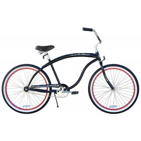 Glossy Black w/ Red Rims Cruiser Bike
