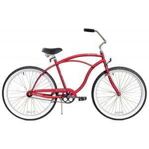 Matte Red Cruiser Bike