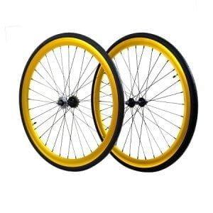 Gold 45MM Fixie Wheels