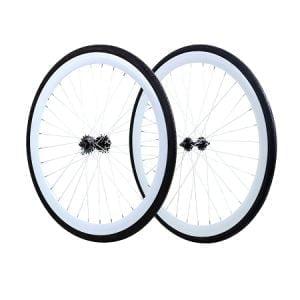 White 45mm Fixie Wheels