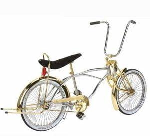 Gold / Chrome Low Rider Bike