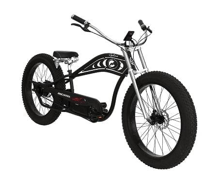Black Electric Cruiser Bike