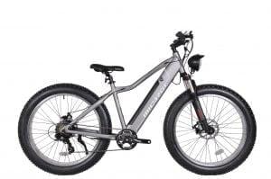 Matte Grey Electric Cruiser Bike