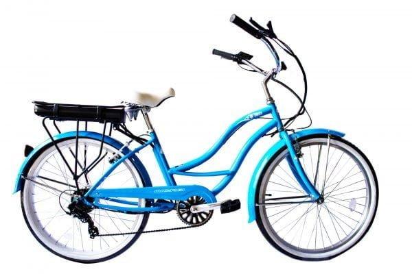 Womens Blue Electric Bike