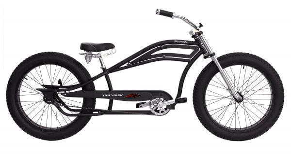 Matte Black Chopper Cruiser Bike