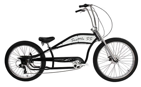 White Chopper Cruiser Bike