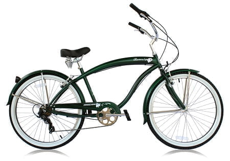 matte dark green cruiser bike