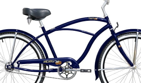 Dark Blue Cruiser Bike