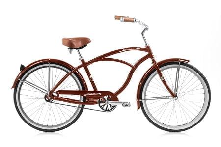 brown cruiser bike