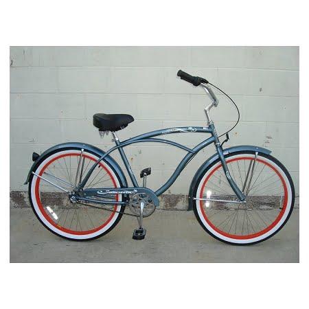 matt grey cruiser bike
