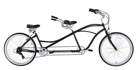 Black Tandem Bike