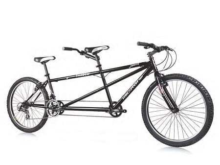 Black Tandem Cruiser Bike