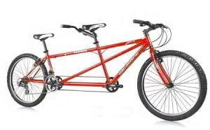 Red Tandem Cruiser Bike