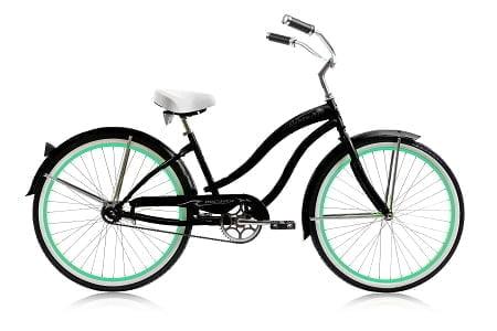 Matt Black Green Rims Cruiser Bike